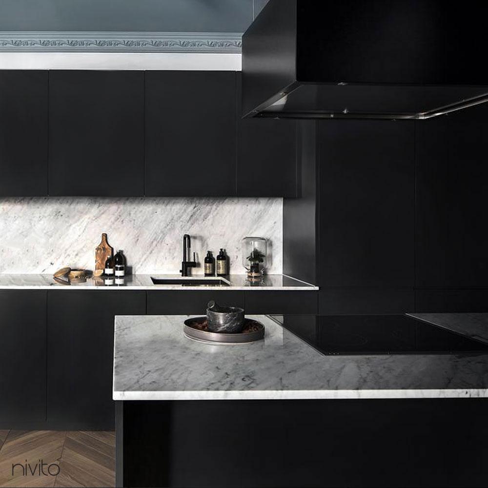Siyah mutfak mikser musluk