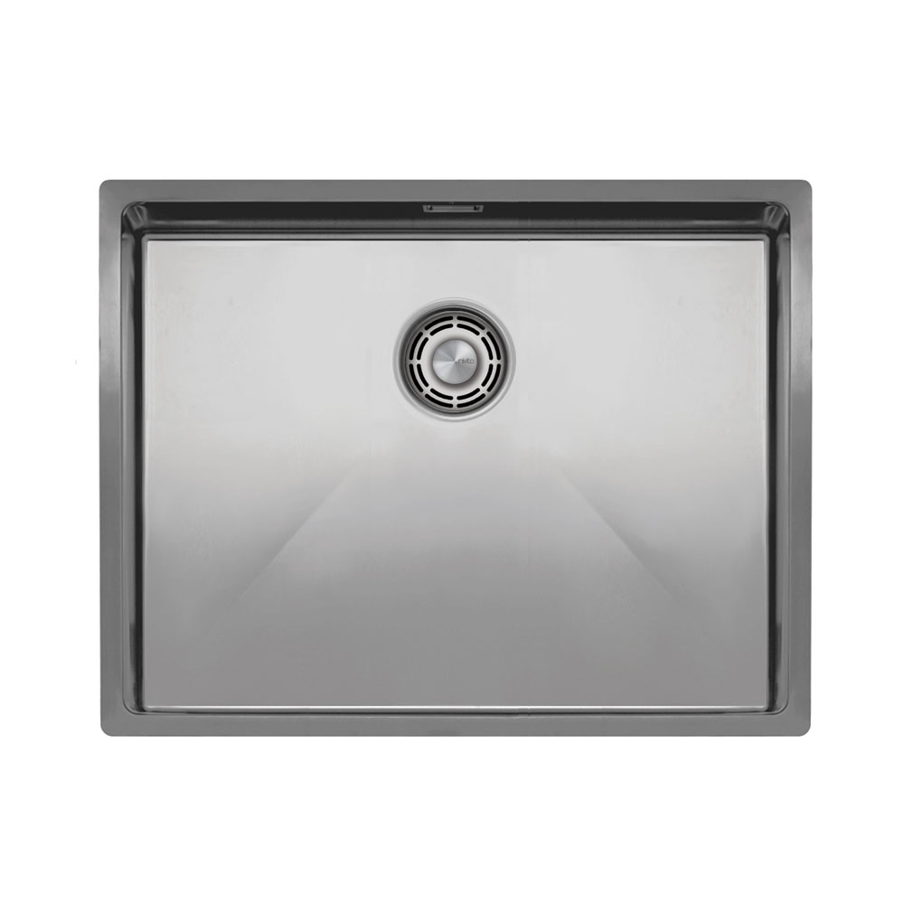 Paslanmaz Çelik Mutfak Yüz Yıkama Havzası - Nivito CU-550-B Brushed Steel Strainer ∕ Waste Kit Color