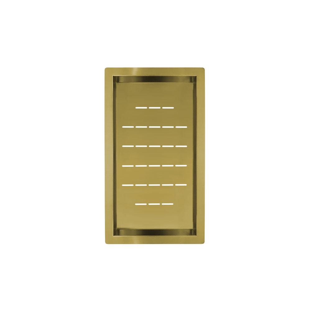 Altın/Pirinç Süzgeç Kase - Nivito CU-WB-240-BB