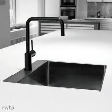 Siyah Mutfak Musluk - Nivito 1-RH-320