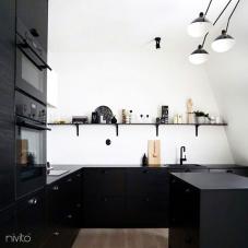 Siyah Mutfak Musluk - Nivito 13-RH-320