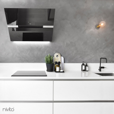 Siyah Mutfak Musluk - Nivito 3-RH-320