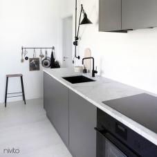 Siyah Mutfak Musluk - Nivito 5-RH-320