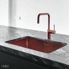 Bakir mutfak lavabo