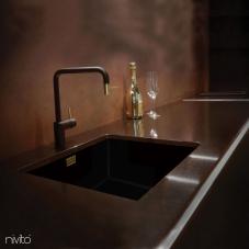 Altın/Pirinç Mutfak Musluk Siyah/Altın/Pirinç - Nivito 2-RH-340-BISTRO