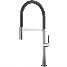 Paslanmaz Çelik Mutfak Musluk Çıkış hortumu / Fırçalı/Siyah - Nivito SH-200
